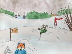 10-Fox Snow fight