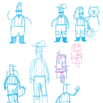 pedropans character sketches 1