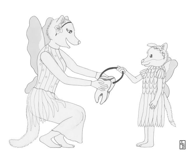 Fox Fairies B&W2