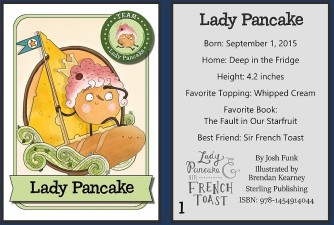 Lady Pancake Card