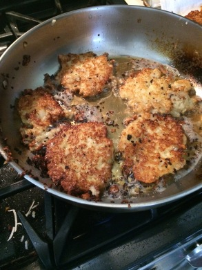 Latkes in the pan